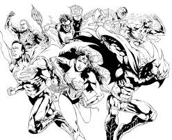 justice league pencil drawing coloring page netart