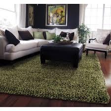 style haven manhattan tweed green brown shag rug 5 u0027 x 8