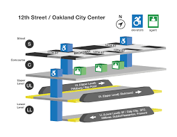 Map Of Bart Stations by Bart Elevator Locations And Accessible Path For 12th St Oakland