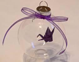 paper crane ornament etsy
