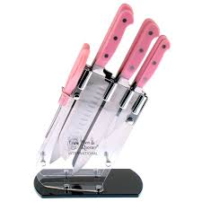 pink kitchen knives hen rooster 7 pink kitchen cutlery set free shipping