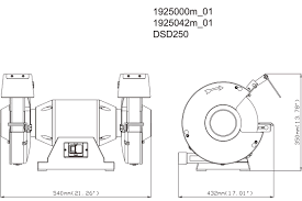 dsd 250 619250420 bench grinder metabo power tools