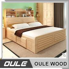 Size Double Bed Queen Size Bed Malaysia Style Solid Wood Bed Double Bed Designs