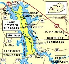 map ky and tn map of the land between the lakes travel lakes