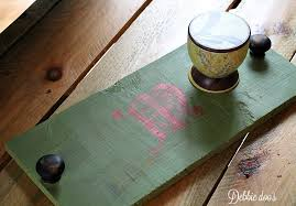 monogramed tray how to make your own custom rustic signs or trays debbiedoos