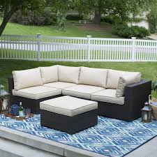 Outdoor Living Room Sets Amazing Outdoor Deck Living Room Design Featuring Wicker Sofa With