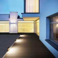 garden bollard light contemporary glass wooden look by