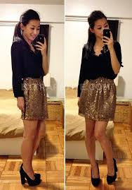 new year s tops something payless block heel pumps 18 gold sequin skirt