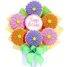 birthday flowers cookie bouquets happy birthday flowers cutout cookie bouquet