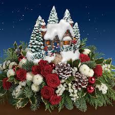 thomas kinkade u0027s u201ccountry christmas homecoming u201d bouquet by