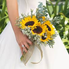 sunflower wedding bouquet save on our wedding flowers in a box fiftyflowers the