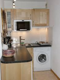 cuisine avec lave linge studio au cœur de la station plagne 4 personnes tout