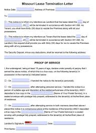 sample lease termination letter from landlord to tenant sample