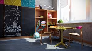 Kid At Desk by Kids Play Area Interior Design Ideas