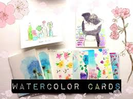 handmade watercolor cards handmade watercolor greeting cards