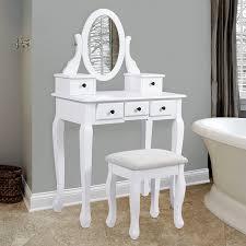 amazon com bathroom vanity table jewelry makeup desk hair