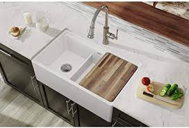 is an apron sink the same as a farmhouse sink elkay swuf3320wh fireclay 60 40 bowl farmhouse sink with aqua divide white