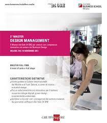 master design management newtone and ars et inventio master design management at il sole