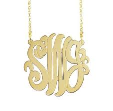 Monogrammed Necklace Gold Monogram Necklaces Monogram Jewelry Be Monogrammed