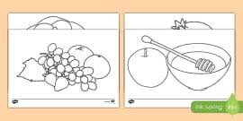 Ks1 Rosh Hashanah Differentiated Reading Comprehension Activity Rosh Hashanah Colouring Pages