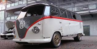 volkswagen type 5 watch this 993 turbo powered volkswagen bus hang with supercars