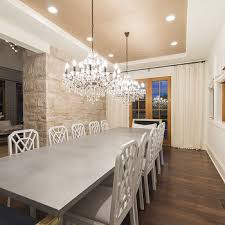 Chandelier Over Table Zinc Dining Table Design Ideas