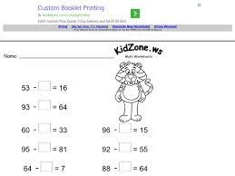 subtraction worksheets missing number subtraction worksheets ks1