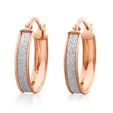 9ct gold hoop earrings glitterati 9ct gold stardust hoop earrings g10254135 grahams