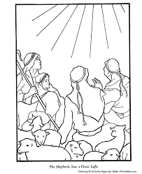 christmas story coloring pages angles shepherds