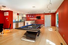 CoolpooltablesKitchenContemporarywithbenchseats - Kitchen pool table