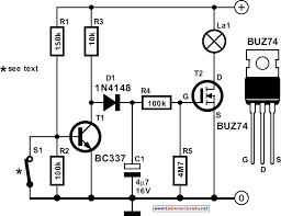 interior lights delay circuit diagram