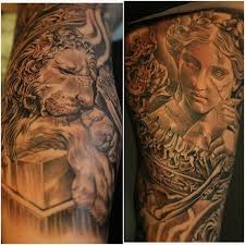 full body lion tattoos pictures to pin on pinterest tattooskid