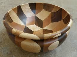 wood bowl woodturning tumbling bowl