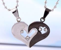 custom necklaces for couples jewels connecting hearts pendants couples christmas gifts