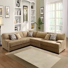 Living Room Layout Ideas With Sectional Sofa Tara Beige Chenille Sectional Overstock Com Fireplaces