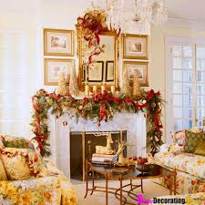 beautiful red and gold christmas decor interior homes decorating