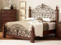 bedroom metal headboards queen iron beds with white wall design