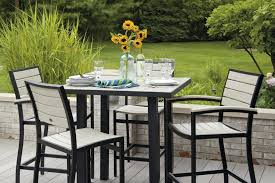 High Bistro Table Patio Ideas Cast Iron Bar Height Patio Furniture Tall Bistro