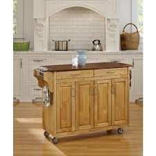 home styles dolly madison white kitchen cart with natural wood top
