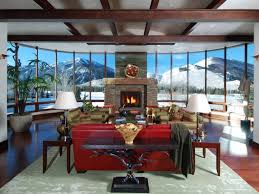 Living Room In Mansion Spacious Idaho Contemporary Mansion On A Golf Course With