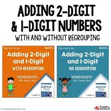 adding double digit plus single digit 2 digit and 1 digit