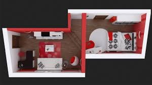 bedroom incredible modern room decors with black white and red