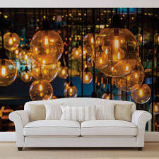 light bulbs vintage retro wall paper mural buy at europosters price from