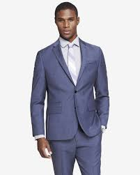 slim photographer blue wool twill suit jacket express