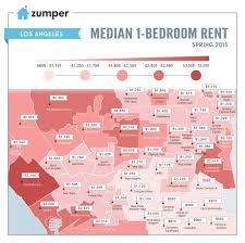 Map Of Beverly Hills Los Angeles by Mapping The Cheapest And Most Expensive Places To Rent In Los