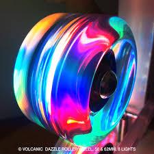 light up roller skate wheels volcanic self lightup skate wheels quad roller indoor outdoor