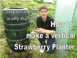 how to build a vertical strawberry tower 24 plants in 4sq feet