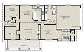 4 Bedroom Floor Plans For A House Ranch Style House Plan 3 Beds 2 Baths 1493 Sq Ft Plan 427 4