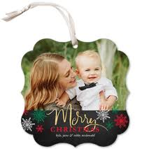 ornament cards shutterfly