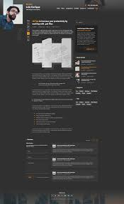 Resume Templates Mobile by Perzonal Resume Cv Portfolio Blog Psd Template By